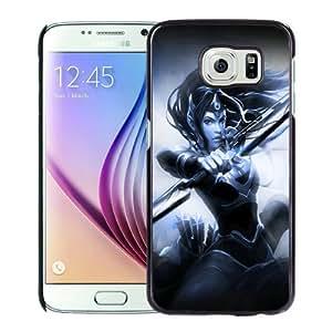 High Quality Samsung Galaxy S6 Skin Case ,mirana art dota 2 Black Samsung Galaxy S6 Screen Cover Case Popular And Unique Custom Designed Phone Case