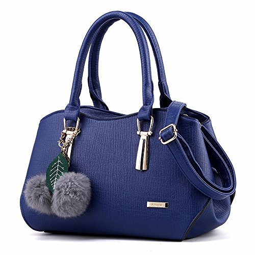 GQFGYYL Dama de la Moda Bolso de Mano,Azul Azul