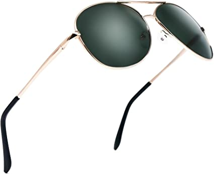 BLDEN Gafas de Sol Aviador Hombre Mujer Clásico Estilo Marco Metal Lentes Polarizadas