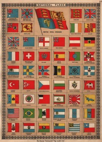 Banderas: Imperio Británico América del sur de Europa Birmania Siam Alemania España. BACON;1936: Amazon.es: Hogar