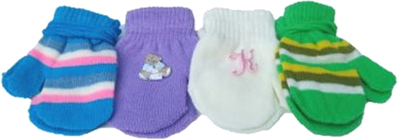 Set of Four Pairs of Magic Stress Gita Mittens for Infants Ages 3-12 Months