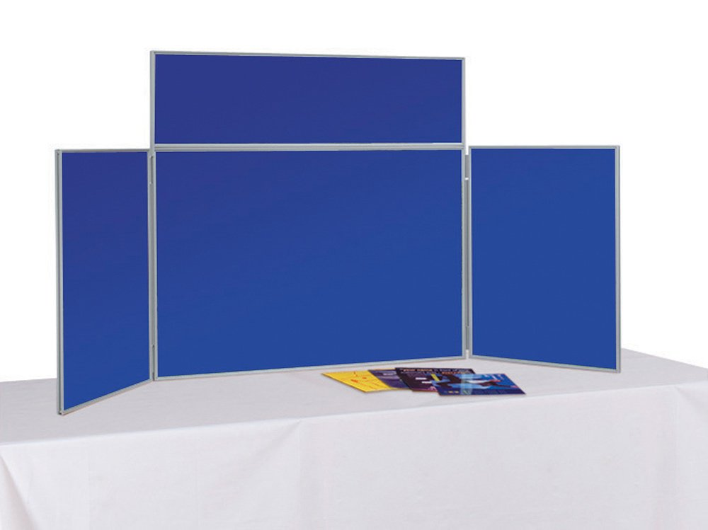 for Schools Exhibitions Portrait - Small Tabletop Offices Wonderwall Folding Display Board Tabletop Exhibition Display Panel Kit with Bag /& Header