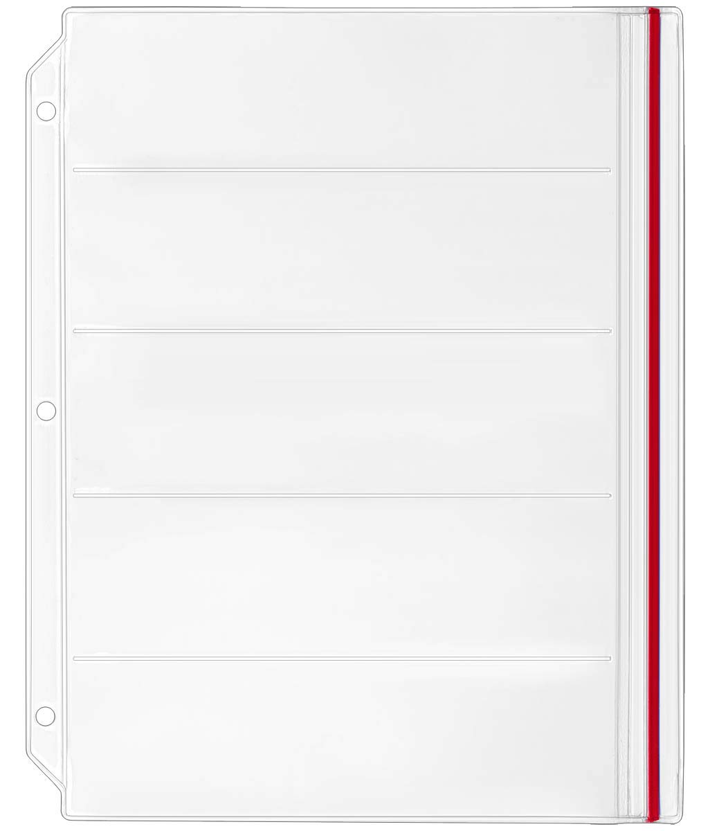 StoreSMART Binder Page for Double Point Needles - Holds 5 Needles per Page - 10-Pack - DP500-5-10 by STORE SMART (Image #2)