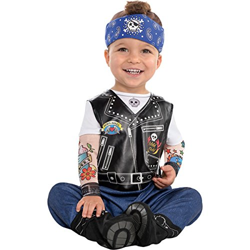 Boy Uk Baby Fancy Dress (Baby Biker Boys Fancy Dress Gangster Punk Toddler Infant Costume (12-24 months) by)
