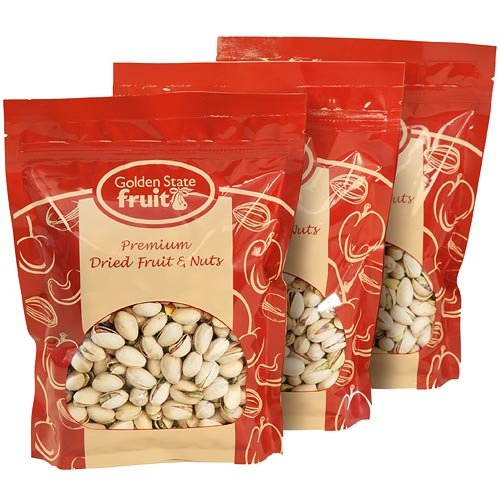 Pistachios in the Shell Roasted and Salted 3 Lbs (in 3 - 1 Lb Reclosable Bags)
