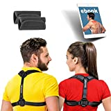 GlamyKings Posture Corrector for Women & Men - Adjustable Posture Brace for Clavicle Support and Upper Back Correction + free eBook by