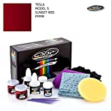 TESLA MODEL S / SUNSET RED - PMMR / COLOR N DRIVE TOUCH UP PAINT SYSTEM FOR PAINT CHIPS AND SCRATCHES / BASIC PACK