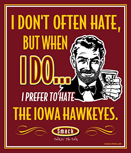 - Smack Apparel Iowa State Football Fans. I Prefer to Hate The Hawkeyes 12'' X 14'' Metal Man Cave Sign