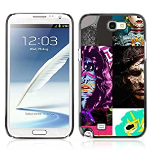 Designer Depo Hard Protection Case for Samsung Galaxy Note 2 N7100 / Abstract Picture