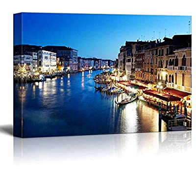 Elegant Piece of Art, Grand Canal in Venice Italy at Sunset Wall Decor, Quality Creation
