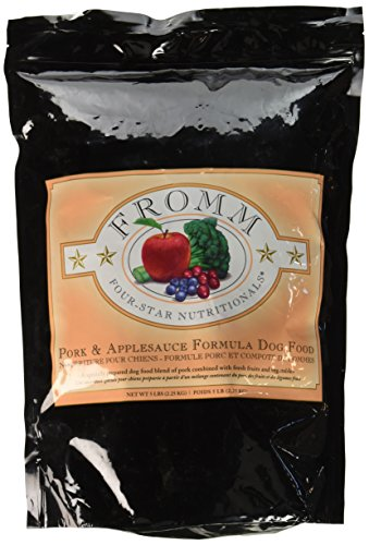 Fromm Four-Star Nutritionals Pork and AppleSauce Formula Dry Dog Food, 5-Pound Bag