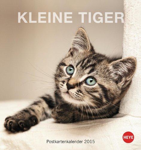 Katzen Postkartenkalender - Kleine Tiger 2015