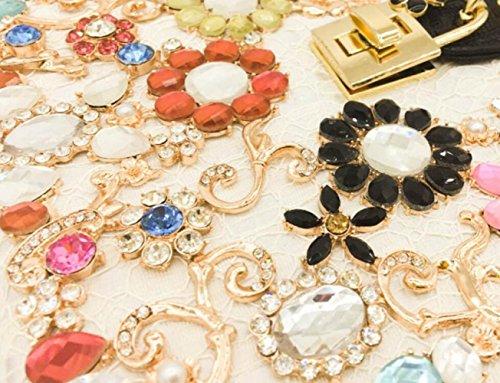 soirée à pour de épaule Sacs luxe Shimmer dames diamant White de mariage de la sac femmes soirée d'embrayage main Zna81qd