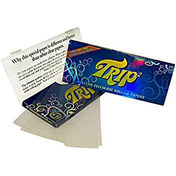 TRIP 2 KING SIZE Clear Cigarette Papers 24 packs Full Box by TRIP 2 King Size
