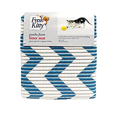 Royal Pet Fresh Kitty Foam Litter Mat, Blue/White Chevron