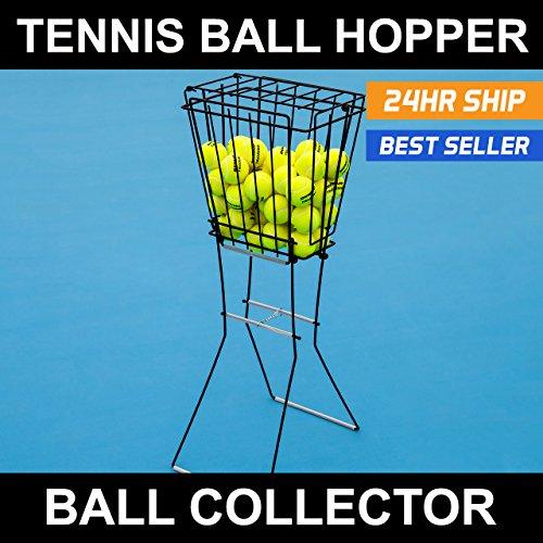 Collapsible Tennis Ball Hopper Ball Pick Up with Stand - 72 x Tennis Ball Hopper & Basket Combo
