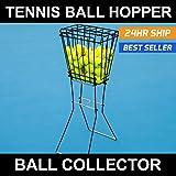 Tennis Ball Hopper - Pick-up, Carry, Store up to 72 Tennis Balls! [Net World Sports]