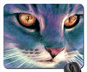 Pretty cat Mouse Pad, Mousepad (Cats Mouse Pad, 10.2 x 8.3 x 0.12 inches)