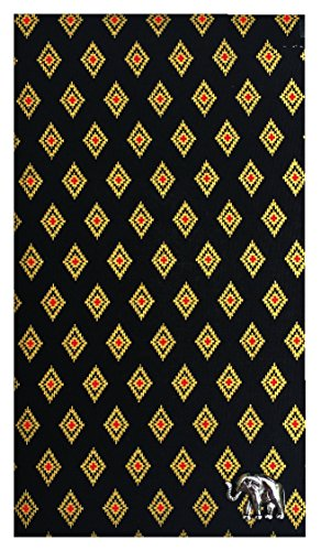 Check Registers Black & Gold Thai Designed Cotton Guest Check Presenter, Check Book Holder for Restaurant, Waitstaff Organizer, Server Book for Waiters,Check Accessories (With Plastic Cover) by Kathy