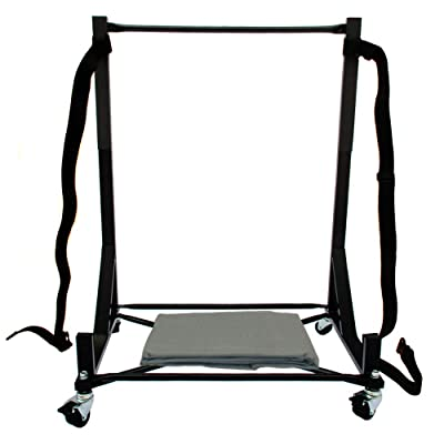 Hardtop Stand Storage Cart (Black) with Securing Strap and Extra-large Generic Dust Cover compatible with the Ford Thunderbird Hard Top: Automotive