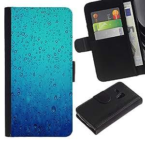 iKiki Tech / Cartera Funda Carcasa - Water Diving Sea Rain Emotional - Samsung Galaxy S3 MINI NOT REGULAR! I8190 I8190N