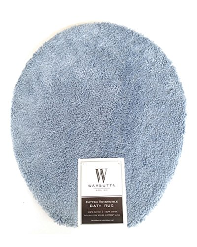 (Wamsutta Ultra-Soft Sheared 100% Cotton Toilet Lid Cover, 16 1/2 L X 13 1/2 W Slate Blue)