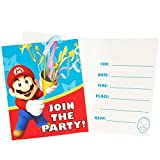 BirthdayExpress Super Mario Party Supplies - Invitations (8)