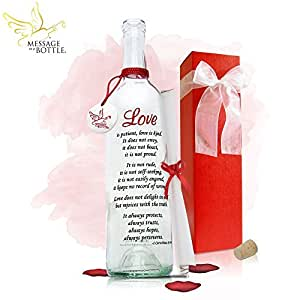 "Message In A Bottle ® ""LOVE"" Personalized Gift for Him or Her"
