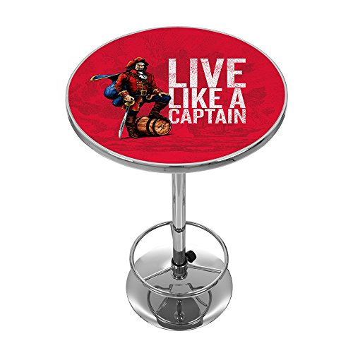 Pub Licensed Table - Trademark Gameroom Captain Morgan Chrome Pub Table
