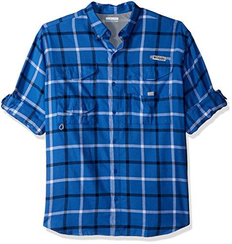 Columbia Men's Bonehead Flannel Long Sleeve Shirt, Vivid Blu