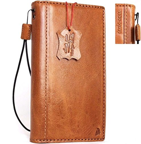 Genuine natural real Leather Case for Samsung Galaxy S8 plus Book Wallet Luxury Cover S Hand made cards slots Retro Id slim s 8 vintage light brown thin daviscase