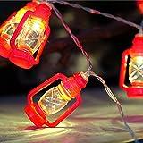 camper awning lights - 20 LED Red Lantern Mini Kerosene String Lights For Patio Garden Holiday Home Decorations