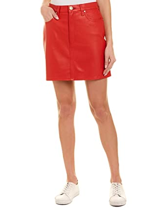 e93d1c926 Image Unavailable. Image not available for. Color: rag & bone Womens Moss  Leather Skirt ...