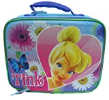 Tinkerbell 'Big Heart' Girls Blue & Pink Square School Lunchbox