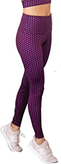 product image for Onzie Hot Yoga High Rise Legging 228 Aubergine Dot