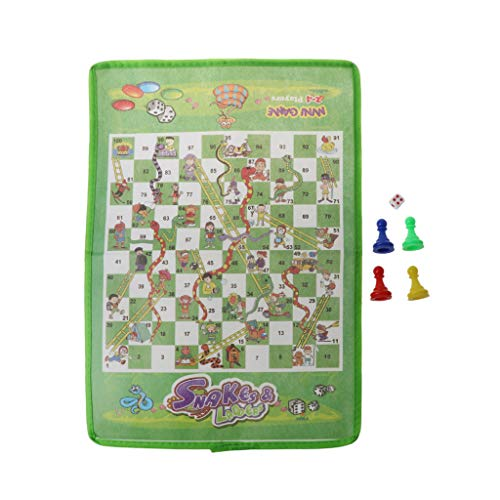 niumanery Snake and Ladder Kids Flying Chess Non-Woven Fabric Portable Family Board Game