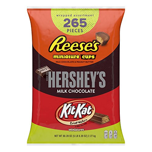 HERSHEY'S 5 Pound Easter Candy Assortment, Bulk Chocolate Candy , HERSHEY'S, REESE'S, and KIT KAT, 265 Pieces, Perfect for Easter -