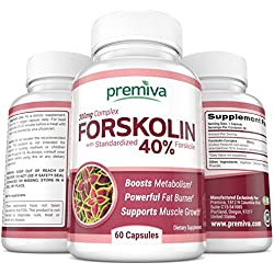 Premiva 300mg 40% Forskolin Extract Weight Loss Suppressant - 60 Caps