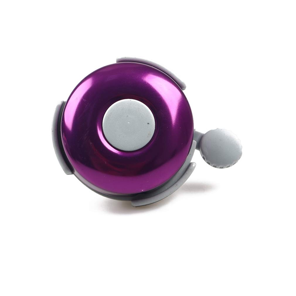 SOURBAN Bicycle Bell Purple Aluminum Plastic Loud Crisp Clear Sound Bike Ring