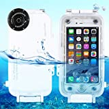 HAWEEL iPhone 6 Plus/ 6s Plus Diving Case Professional [40m/ 130ft] Surfing Swimming Snorkeling Photo Video Waterproof Protective Case Underwater Housing with Lanyard (iPhone 6 Plus/ 6s Plus, White)