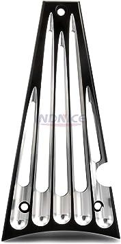 Black CNC Aluminum Frame Grill For Harley Touring Street Glide FLHT 2014-2017
