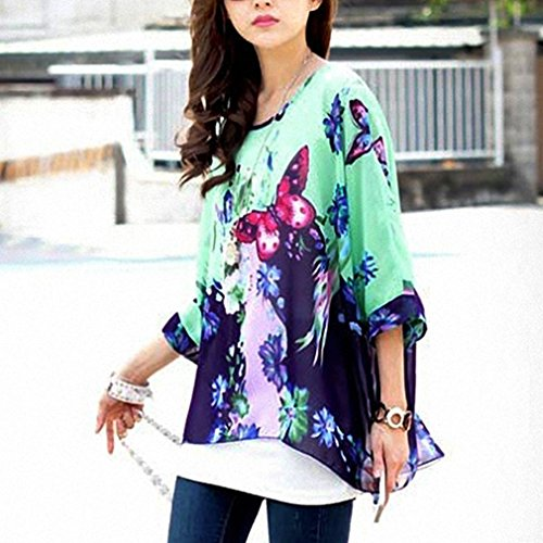 Bohemian 47 Lath Blouse shirt Shoulder Off Sleeve Donna 4 T Chiffon pin 3 qaFE1