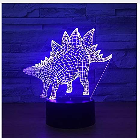 Modelo de dinosaurio Ilusión Lámpara 3D Led 7 Cambia de color Animal Camaleón 3D Luces Visuales
