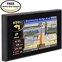 Car GPS Navigation, TSWA 5 inches 8GB Navigation System for Cars Lifetime Map Updates Touch Screen Spoken Turn-to-turn Alert Vehicle GPS Navigator