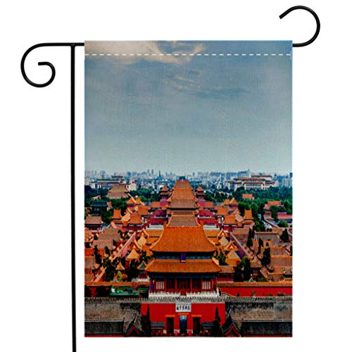 BEIVIVI Creative Home Garden Flag View of The Forbidden City from The Top of Jingshan Park in Beijing China Asia Garden Flag Waterproof for Party Holiday Home Garden Decor]()