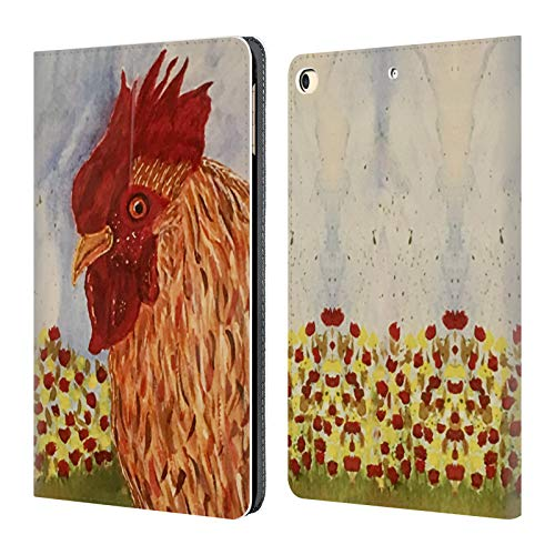 Official Cathy Standridge Rooster Portraits Leather Book Wallet Case Cover for iPad 9.7 2017 / iPad 9.7 2018