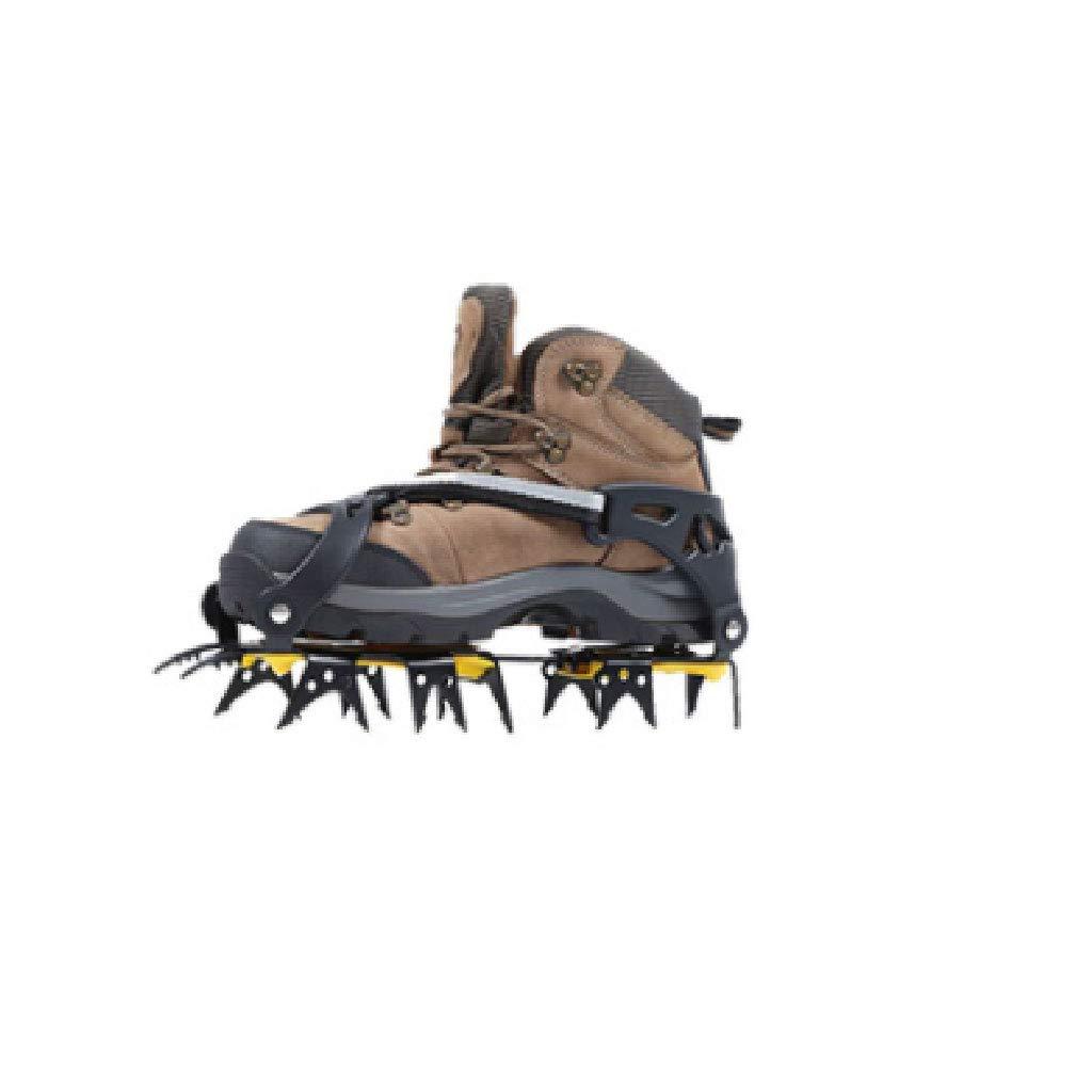 屋外の滑り止めの靴カバー雪の爪氷を引く10歯マンガン鋼スノーアイゼンネイルシューズチェーンクライミング機器マルチスタイルオプション (設計 : 18 tooth manganese steel)  18 tooth manganese steel