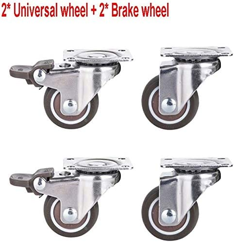Rubber Directional//Universal Brake Wheel//Wheel Display Stand Suitable for Electrical Appliances Nologo DONG60q 4 Pieces Office Chair Castors