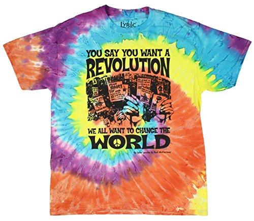 Beatles Revolution Tie Dye Graphic T-Shirt - ()