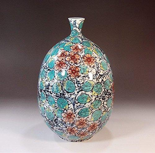 有田焼伊万里焼の陶器花瓶吹墨花唐草|贈答品|ギフト|記念品|贈り物|陶芸家 藤井錦彩 B00LIQENSU